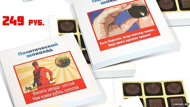 Confael political chocolate selection