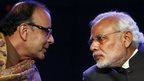 India's Finance Minister Arun Jaitley and Prime Minister Narendra Modi