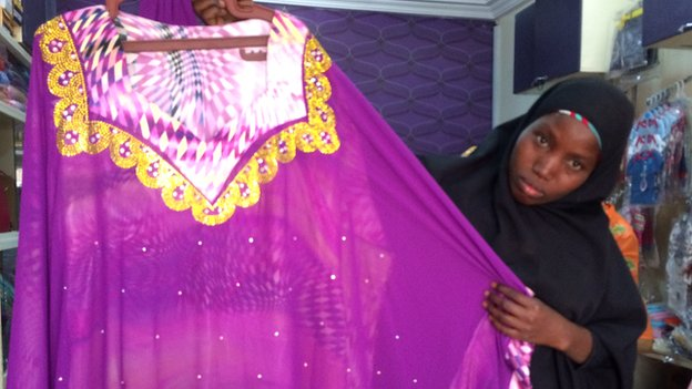A shop assistant at Alhayat Global Synergy in Kano, Nigeria - February 2015