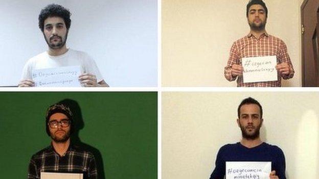 Men in mini skirts campaign
