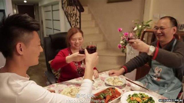 Coming Home dinner table scene