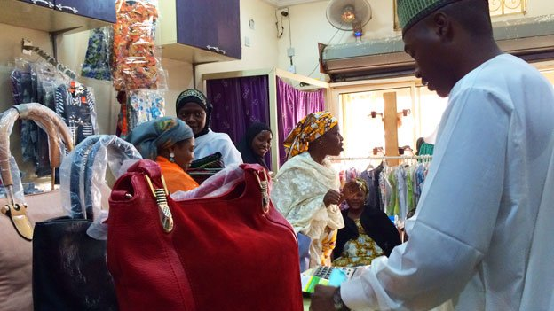 Customers at Alhayat Global Synergy in Kano, Nigeria - February 2015