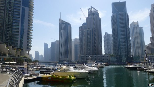 Dubai marina district. Photo: 2014