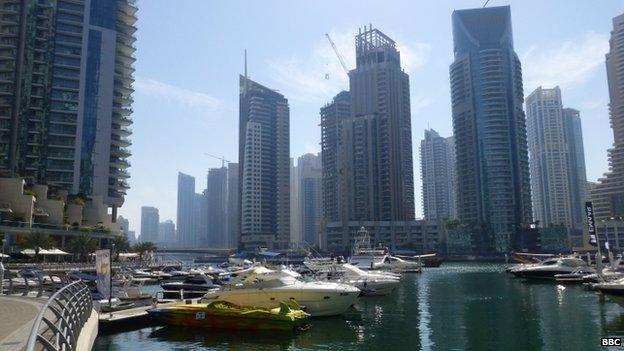 Dubai marina district. Photo: 2014