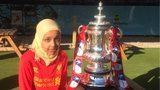 People's Cup player with the FA Cup