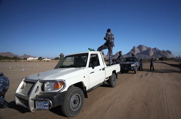 Sudanese border patrol