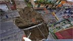 A sinkhole in Naples