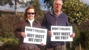Residents Julie Hinchcliffe and Peter Taylor