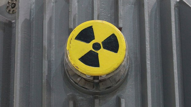 Radioactively-contaminated container