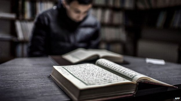 A copy of the Koran on a table