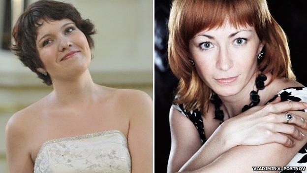 Soprano Nadine Koutcher and Marina Pinchuk, mezzo-soprano, both 32