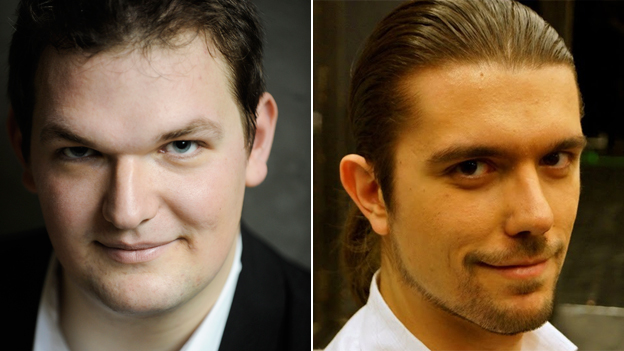 "Bass Sebastian Pilgrim, 30, is Germany""s entry, while bass baritone Roberto Lorenzi, 25, represents Italy"