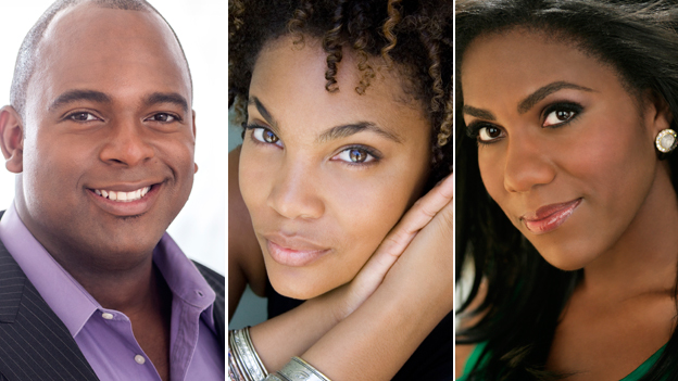 "Three from the USA: Bass baritone Ryan Speedo Green, 29; soprano Lauren Michelle, 32 and mezzo J""nai Bridges, 29"