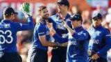 England team mates celebrate