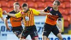 Dundee United and Partick Thistle players