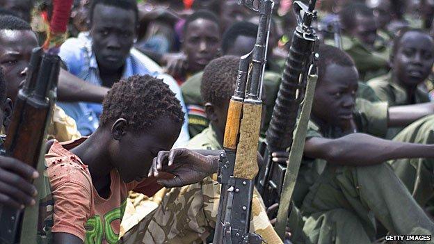 Child soldier disarmament, Feb 2015