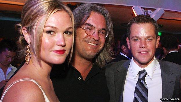 Julia Stiles, Paul Greengrass and Matt Damon
