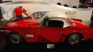 A 1963 Ferrari 250 GT SWB California Spyder for auction on 29 October 2008 in London