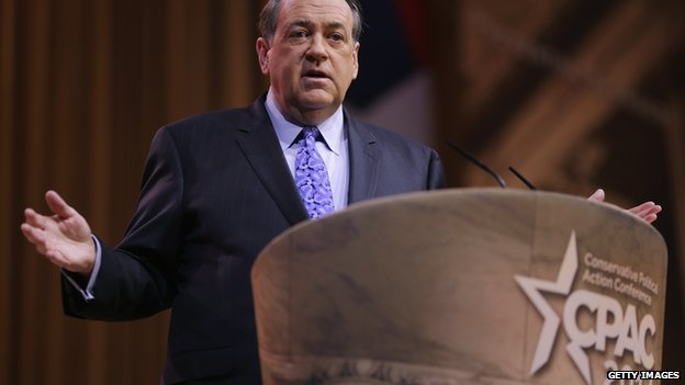 Mike Huckabee speaks at CPAC in 2014.