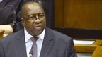 South African Minister of Finance Nhlanhla Nene delivers the 2015 Budget Speech