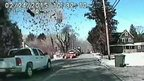 Image from Stafford Police Dept police car dashcam showing house exploding
