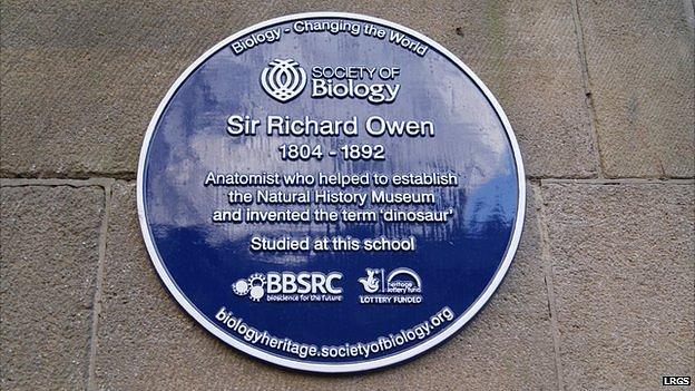 Sir Richard Owen plaque