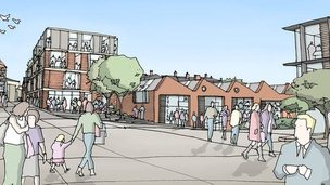 Artist's impression of Northampton's community arts centre