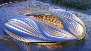 Artist's impression of interior of Al Wakrah stadium
