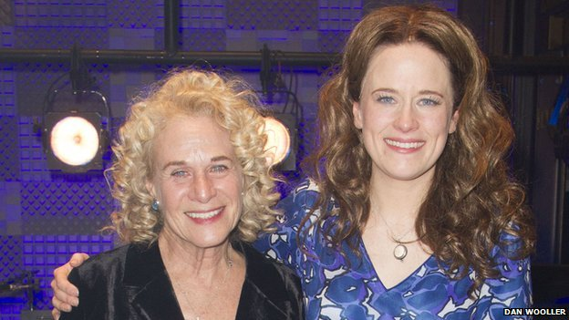 Carole King with Beautiful actress Katie Brayben