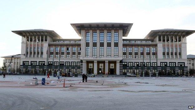 The presidential palace in Ankara