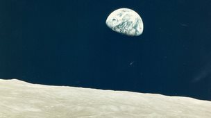 First Earthrise seen by human eyes, Apollo 8, December 1968