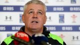 Warren Gatland at a Wales media conference