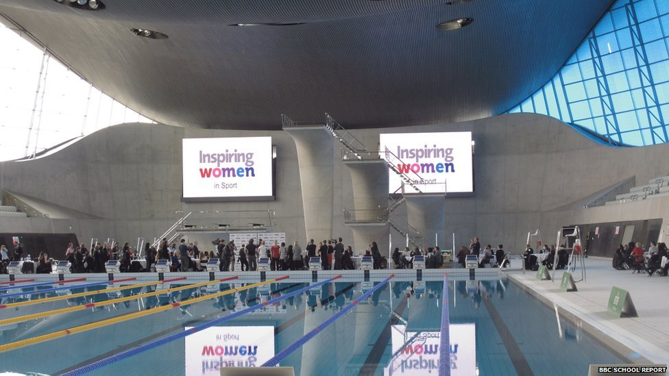 London Aquatics Centre hosted this year's Inspiring Women campaign, founded by Miriam González Durántez, to bring the biggest names in English women sport to talk to 300 girls from 18 state schools about forging a career in sport.