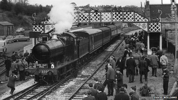 Steam locomotives at Bridgnorth station in 1967