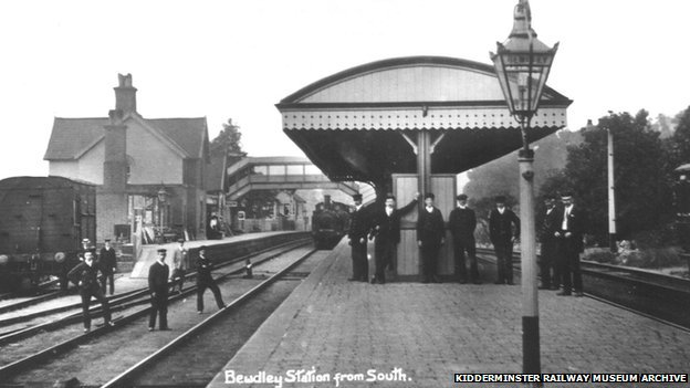 Bewdley Station in about 1910 (image: Kidderminster Railway Museum Archive)