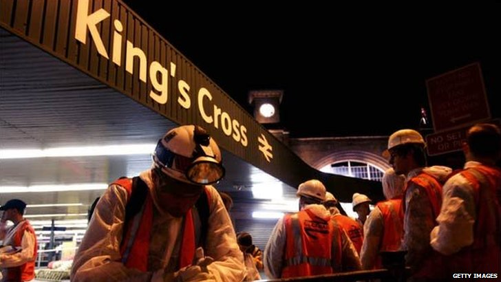 Scenes after the 7 July bombing at King's Cross in 2005