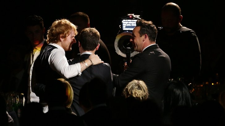 Ant and Dec with Ed Sheeran