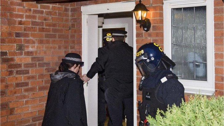Drug raid in Huyton