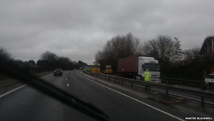 A34 lorry closure