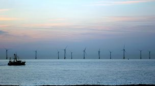 Scroby Sands windfarm, off Norfolk