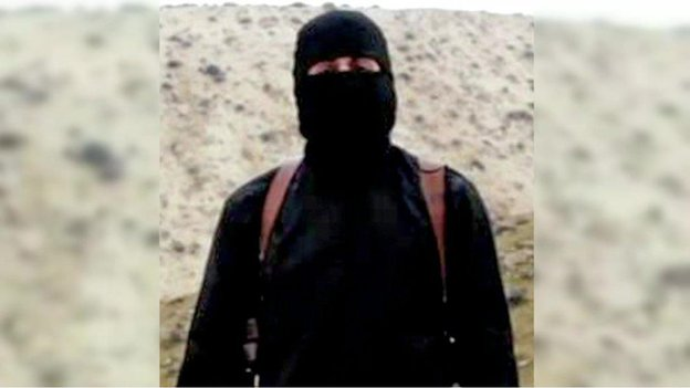 "Still from video showing ""Jihadi John"", who the British authorities have identified as  Mohammed Emwazi from London"