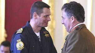 General Sir Nicholas Carter and Lt Cdr Christopher Gotke