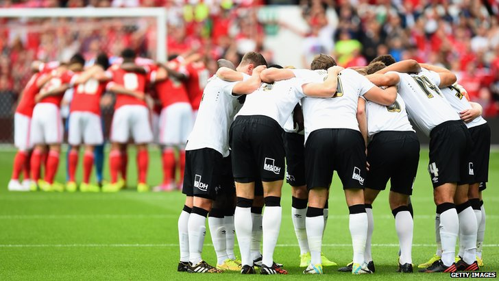 Nottingham Forest and Derby County players