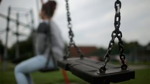 Girl on a swing in Rotherham