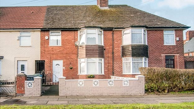 Paul McCartney's childhood home in Speke, Liverpool