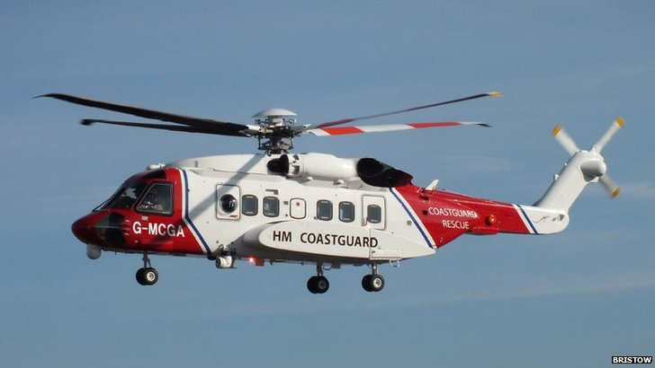 Search helicopter. Pic: Bristow