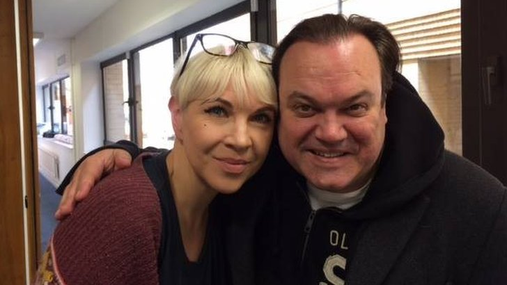 Kat Orman and Shaun Williamson