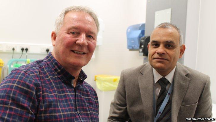Ian Ward with Dr Manohar Sharma