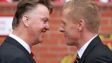 Louis van Gaal and Garry Monk