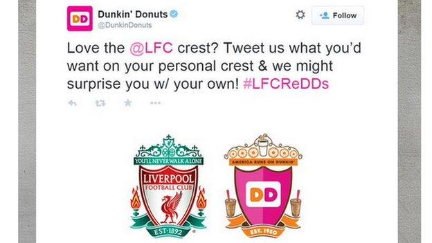 Dunkin Donuts crest error